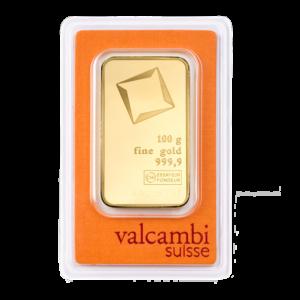 100g Gold Bar | Valcambi(Front)