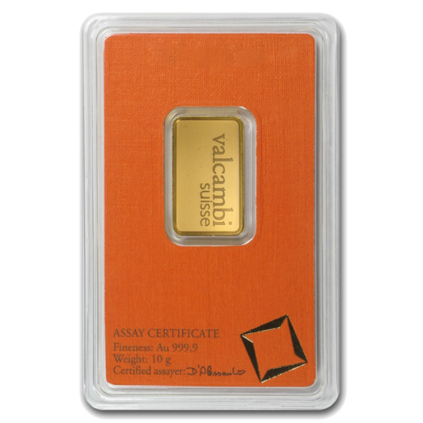 10g Gold Bar | Valcambi(Back)