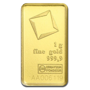 1g Gold Bullion | Valcambi Gold Bar(Front)