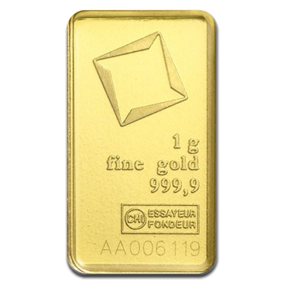 1g Gold Bullion | Valcambi Gold Bar(Front)