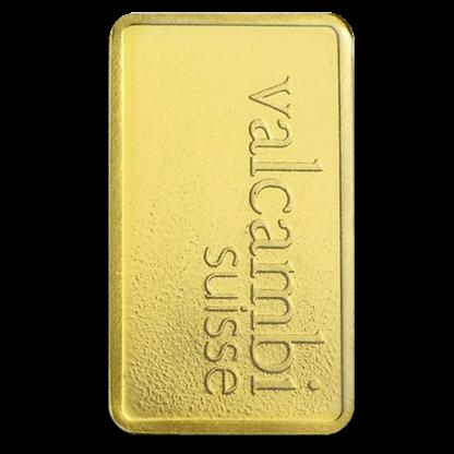 1g Gold Bullion | Valcambi Gold Bar(Back)