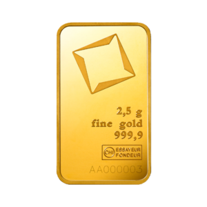 2.5g Gold Bar | Valcambi(Front)