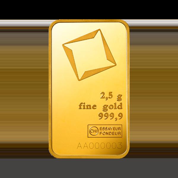2.5g Gold Bar | Valcambi(Front)