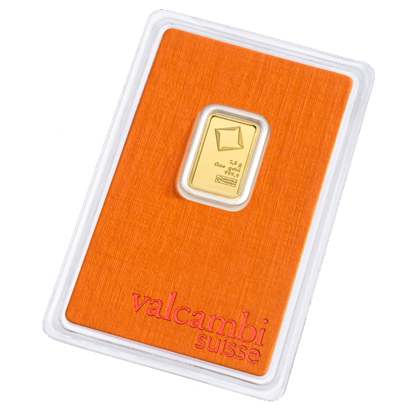 2.5g Gold Bar | Valcambi(Back)