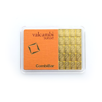 20 x 1g CombiBar® | Gold | Valcambi(Front)