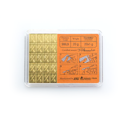 20 x 1g CombiBar® | Gold | Valcambi(Back)