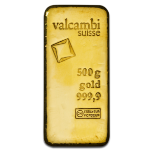 500g Gold Bar | Valcambi(Front)
