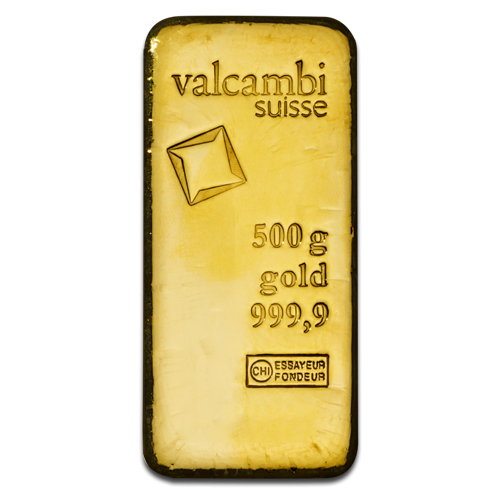 500g Gold Bar | Valcambi(Front)