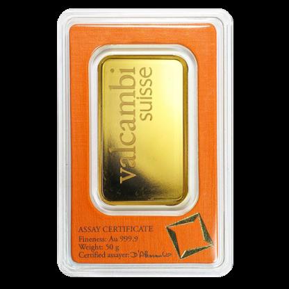 50g Gold Bar | Valcambi(Back)