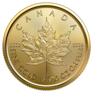 1/10 oz Maple Leaf Gold Coin (2021)(Front)