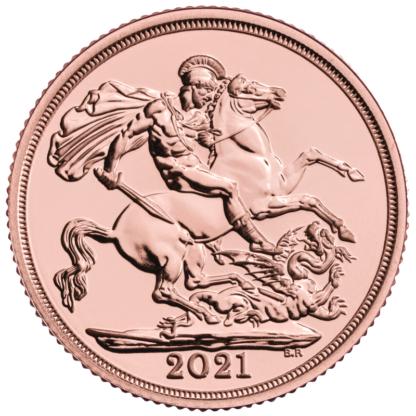 Sovereign Elizabeth II Gold Coin (2021)(Front)