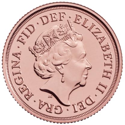 Sovereign Elizabeth II Gold Coin (2021)(Back)