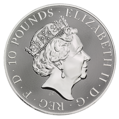 10 oz Queen's Beasts White Horse of Hanover Silver Coin (2021)(Back)