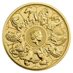 1 oz Queen's Beasts The Completer Gold Coin (2021)(Front)
