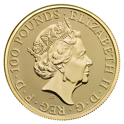 1 oz Queen's Beasts The Completer Gold Coin (2021)(Back)