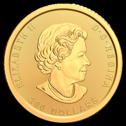 1 oz Klondike Gold Rush Panning for Gold .99999 Gold Coin (2021)(Back)