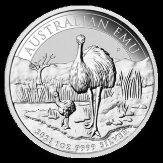 1 oz Perth Mint Silver Emu (2021)(Front)