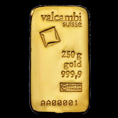 250g Gold Bar | Valcambi(Front)