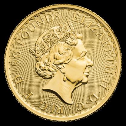 1/2 oz Britannia Gold Coin (2021)(Back)