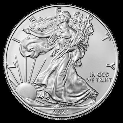1 oz American Eagle Silver Coin (2021) new design(Back)