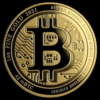 1 oz Gold Bitcoin (2021)(Front)