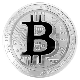 1 oz Silver Bitcoin (2021)(Front)