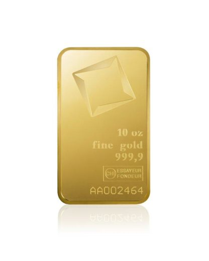 10 oz Gold Bar | Valcambi(Front)