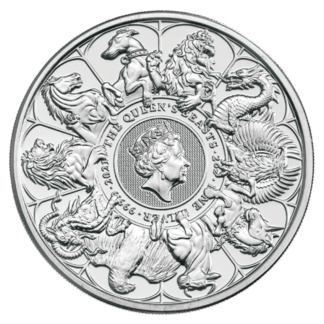2 oz Queen's Beasts The Completer Silver Coin (2021)(Front)