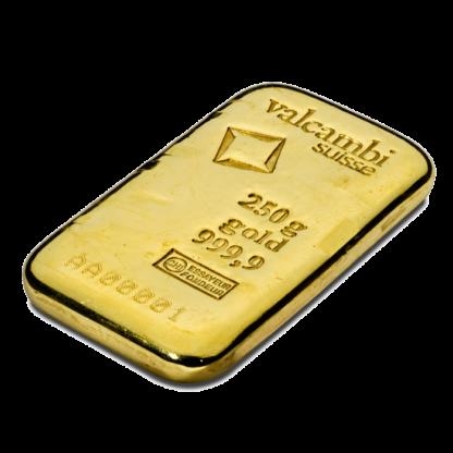 250g Gold Bar | Casted | Valcambi(Back)