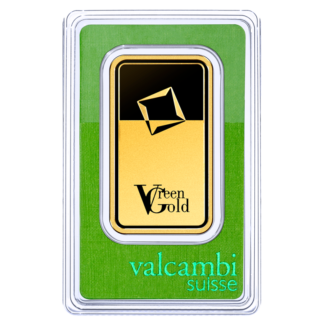 50g Gold Bar | Valcambi | Green Gold(Front)