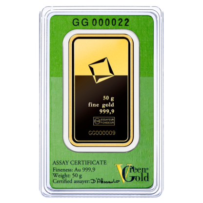 50g Gold Bar | Valcambi | Green Gold(Back)