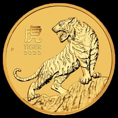 1/2 oz Lunar III Tiger Gold Coin | 2022(Front)