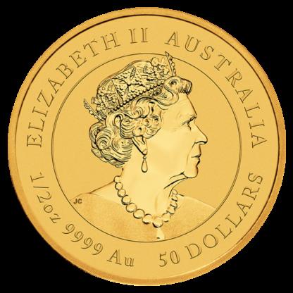 1/2 oz Lunar III Tiger Gold Coin | 2022(Back)