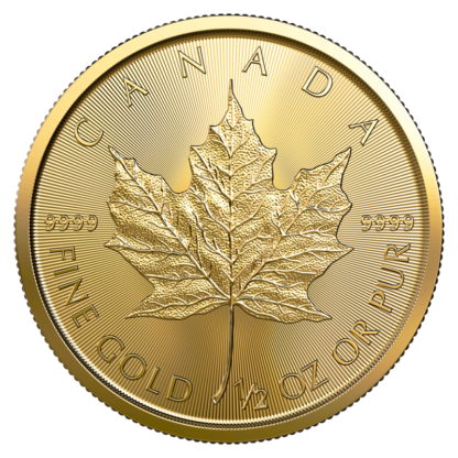 1/2 oz Maple Leaf Gold Coin (2021)(Front)