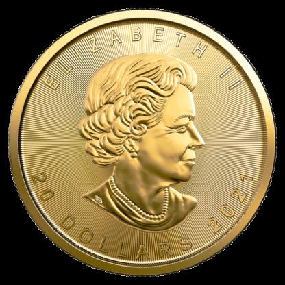 1/2 oz Maple Leaf Gold Coin (2021)(Back)