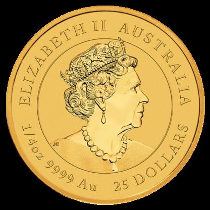 1/4 oz Lunar III Tiger Gold Coin | 2022(Back)