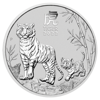 1 oz Lunar III Tiger Silver Coin | 2022(Front)