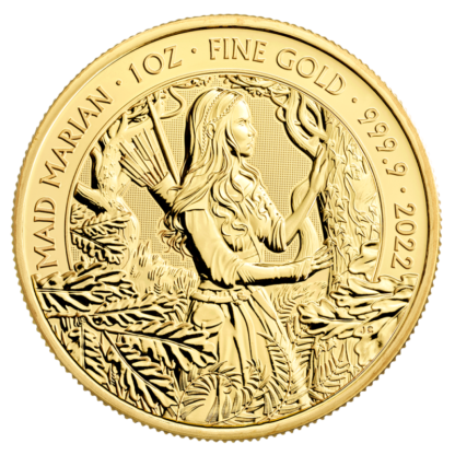 1 oz Maid Marian Gold Coin (2022)(Front)