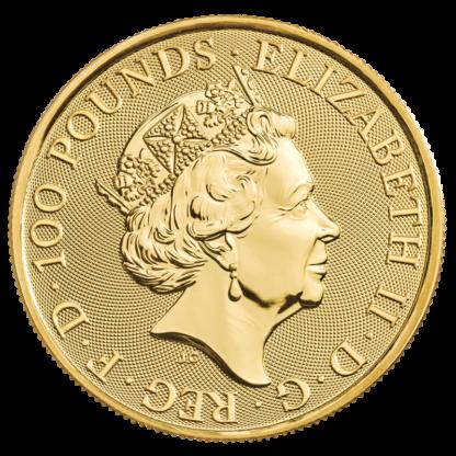 1 oz Maid Marian Gold Coin (2022)(Back)