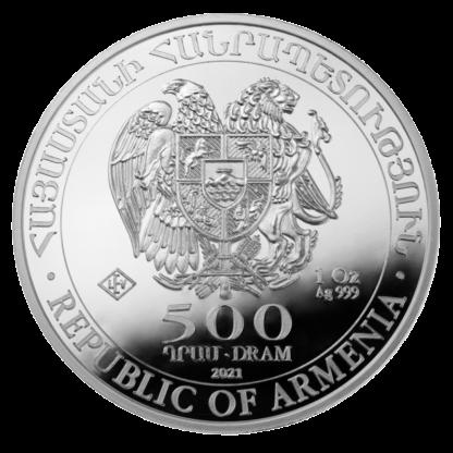 1 oz Noah's Ark Silver Coin (2021)(Back)