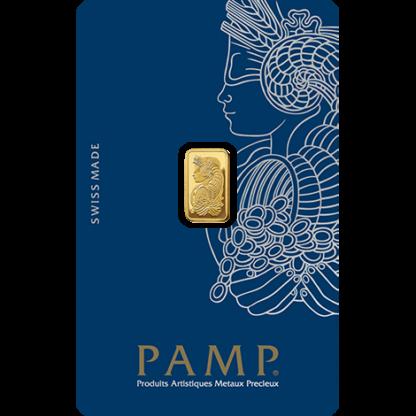 1g Gold Bar   PAMP Fortuna(Front)