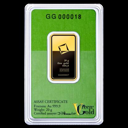 20g Gold Bar | Valcambi | Green Gold(Back)