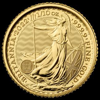 1/10 oz Britannia Gold Coin (2022)(Front)
