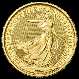 1/2 oz Britannia Gold Coin (2022)(Front)