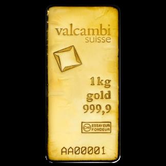 1 Kilo Gold Bar | Valcambi(Front)
