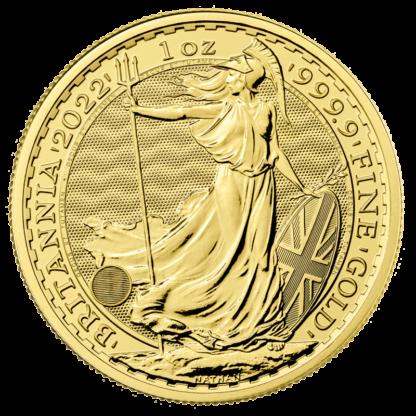 1 oz Britannia Gold Coin (2022)(Front)