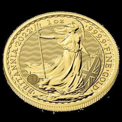 1 oz Britannia Gold Coin (2022)(Back)