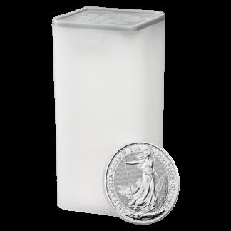 1 oz Britannia Silver Coin (2022)(Front)