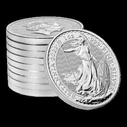 1 oz Britannia Silver Coin (2022)(Back)