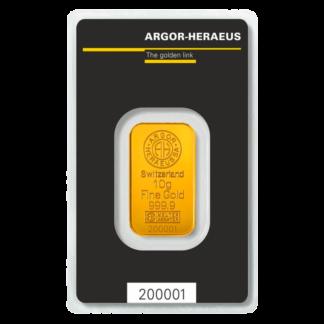 10g Gold Bar | Argor Heraeus(Front)